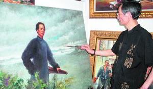 """<b>""""老长沙""""杨克起:用油画讲述长沙县故事</b>"""