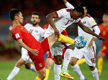 憾平!12强赛:国足两中门框 主场0-0憾平卡塔尔