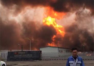天津临港工业区燃气管道破裂发生火灾 暂无人员伤亡