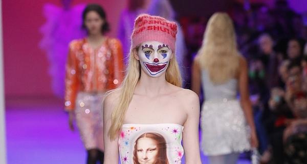 """""""小丑""""登陆伦敦时装周  面部妆容更抢眼!"""