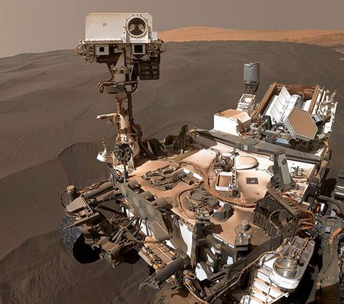 """""""好奇号""""火星车发回自拍照"""