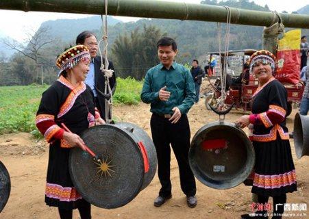 广西东兰举办壮族蚂拐节 民众祈福求安康
