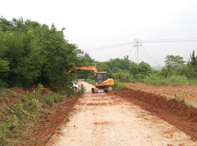 枞阳县首条农村道路畅通工程开工建设 全长近5公里(图