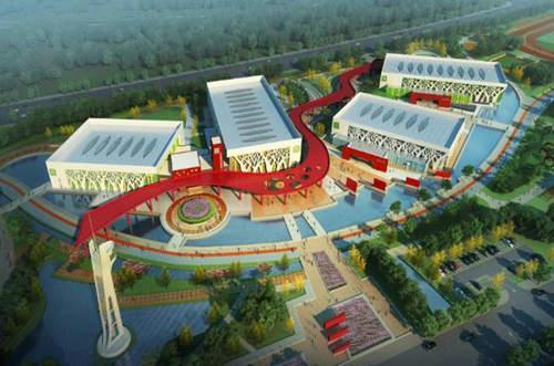 梅河口市体育中心规划设计图 图片来源:梅河口市文广新局