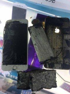 苹果手机也爆炸了 现场照片吓人