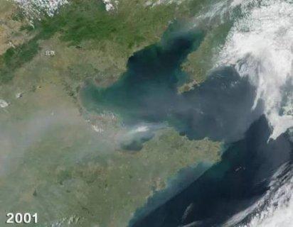 NASA拍北京雾霾:太空拍摄北京15年变化让人触目惊心