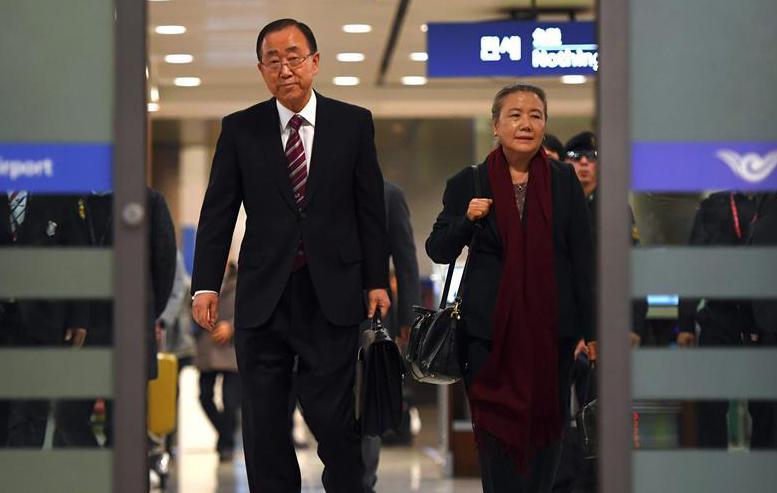 潘基文返回韩国