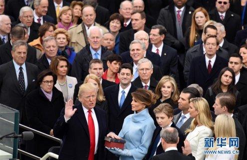 特朗普在华盛顿宣誓就任美国第45任总统(图)