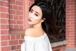 刘凡菲曝冬日写真 小露香肩性感撩人