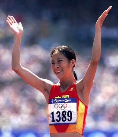 2000年悉尼奥运会上,王丽萍夺得了我国唯一一枚田径金牌。