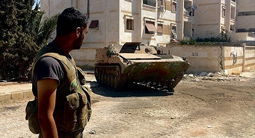 叙政府军彻底拿下阿勒颇两所军校 恐怖分子尚占一所