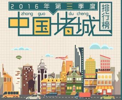 2016中国堵城排行榜 哈尔滨登堵王座 看看你的城市排第几