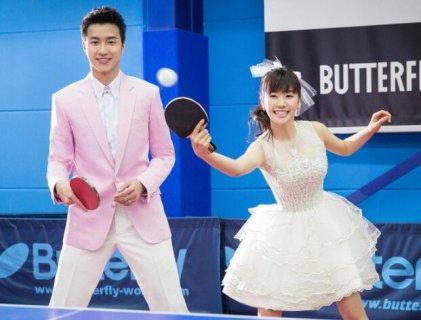 福原爱婚纱照公布 乒乓球为主题江宏杰高大帅气