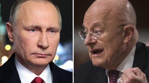 克拉珀(右)言之凿凿普京干扰美国大选