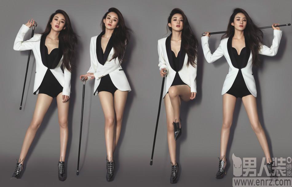 赵丽颖登《男人装》杂志封面变身性感御姐 深v蛮腰出镜美腿修长