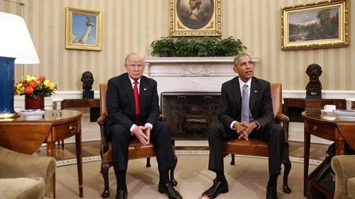 川普与奥巴马见面