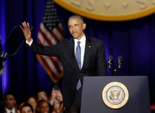 奥巴马发表演讲