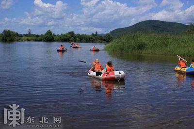 岔林河漂流。网络图