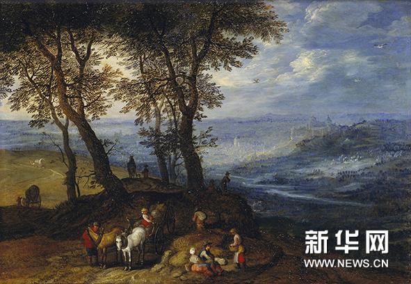 《农民赶集的风景画》 老扬·勃鲁盖尔 1598年
