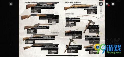 荒野大剽客2有多少种武器 荒野大剽客2全武器介绍