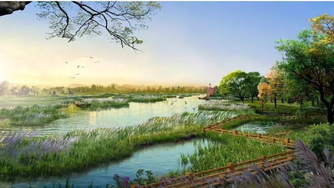 天津市武清区永定河故道公园,将建成全市首个超大型国家湿地公园,预计图片