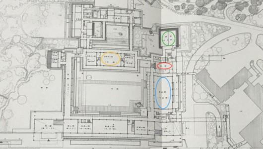 皇居宫殿的平面图