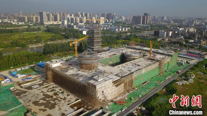 中国大运河博物馆钢结构主体已建成。 孟德龙 摄